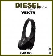 MONSTER DIESEL Noise Division black Vektr HEADPHONES Kopfhöre design