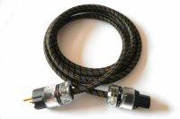 THENDER 25-301 cavo alimentazione 1,5m Schuko spina + IEC Oro hi fi  Con GUAINA Copricavo