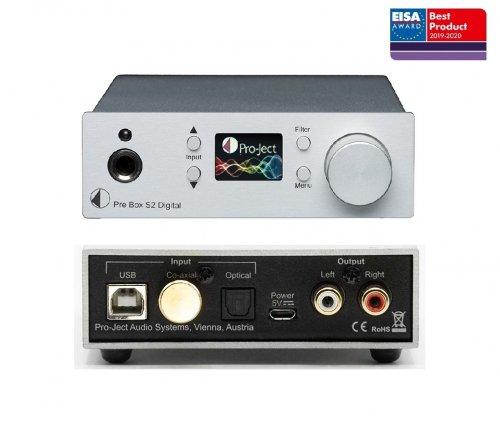 Pro-Ject Pre Box S2 Digital Headphone Preamplifier DA