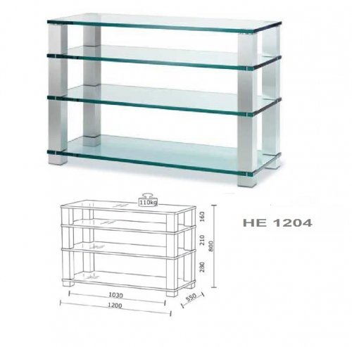 SPECTRAL HE 1204 MODILE HI-FI vetro trasparente