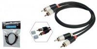 THENDER CAVO 15-265 2 RCA X 2 RCA 5m CAVI AUDIO HI FI STEREO collegamento